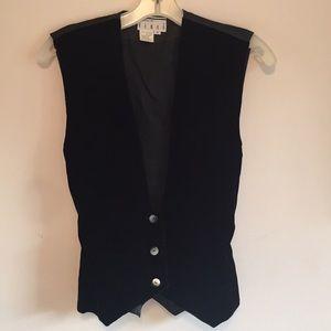 Kenar black velvet vest